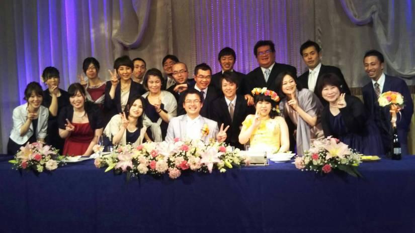 後輩の結婚式に参列