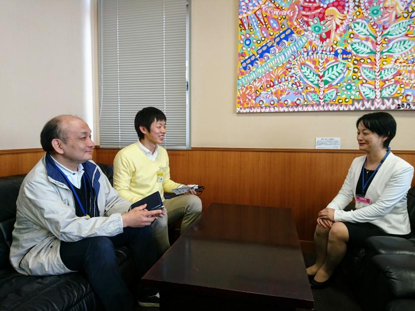 生野区長に山口照美さんが就任されたので、取材に行ってきました