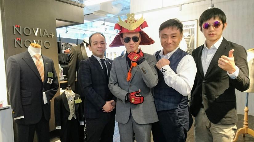 大阪・茶屋町で生まれた【真田幸村スーツ】をスタイリストの前田 智章くんが取材しました
