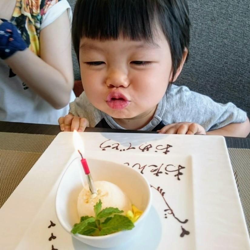 はれくん三歳の誕生日