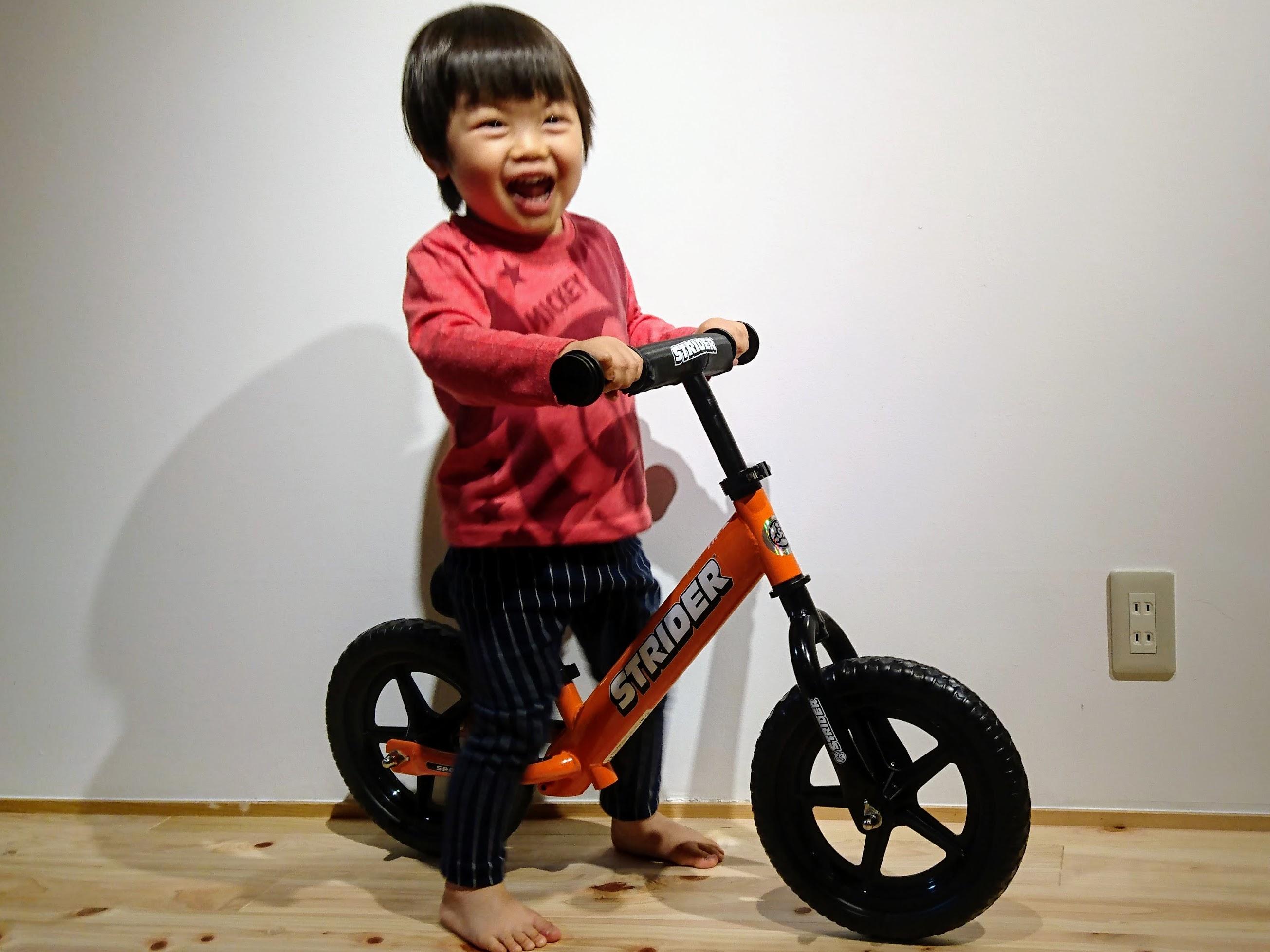 我が家にもキッズバイクがやってきた!