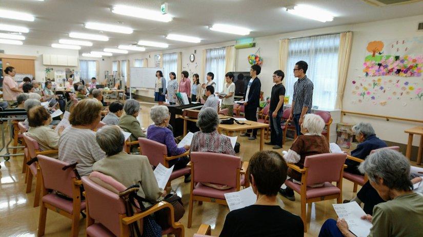 【合唱】京都市のデイサービスにて合唱団で訪問演奏をしました